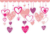 Valentines day background with heart — Stock Vector