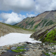 Glacier in mountains of Kamchatka — Foto Stock
