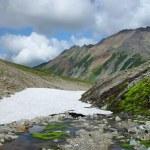 glaciar en las montañas de kamchatka — Foto de Stock