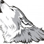 Wolf head vector — Stock Vector
