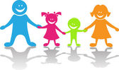 Cheerful family — Stock Vector