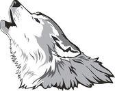 Wolf head vector — Vettoriale Stock