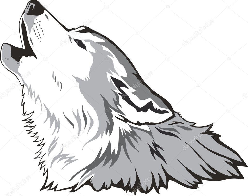 Wolf head vector stock illustration