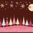 Royalty-Free Stock Imagen vectorial: Winter Christmas landscape with fir tree