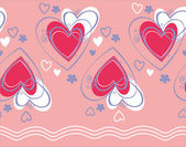Seamless pattern vector with heart — Stock Vector