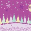 Winter Christmas landscape — Vector de stock #2355751