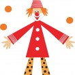 Stock Vector: Clown