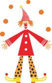 Clown — Stock Vector