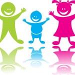 性格开朗快乐儿童 — 图库矢量图片