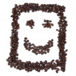 Smiley with coffee beans — Stock fotografie