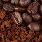 Coffee bean and ground — Stock Photo