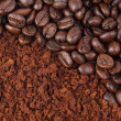 Coffee bean and ground - Stock Photo