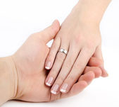 руки в любви — Стоковое фото
