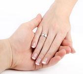 Mãos no amor — Foto Stock