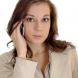 Young businesswoman talking on her cell — Stock Photo