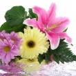 Foto Stock: Beautiful bouquet with reflection