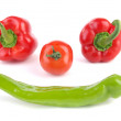 Vegetable face — Stock Photo