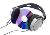 Cd and headphone — Stock Photo