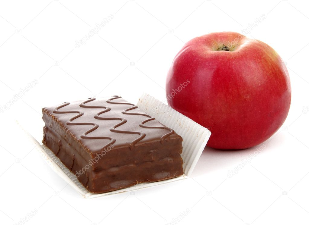 Healthy and Unhealthy Snacks — Stock Photo #2483073