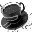 Coffe black and white — Stockfoto