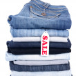 Royalty-Free Stock Photo: Jeans for sale