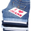 Stock Photo: I love jeans