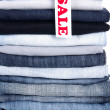 Jeans for sale — Stock Photo