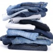 Stok fotoğraf: Jeans isolated on white