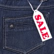 Foto Stock: Blue jeans sale