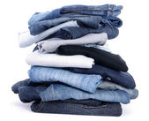 Jeans isolados no branco — Foto Stock
