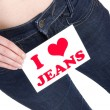 Love jeans — Stock Photo