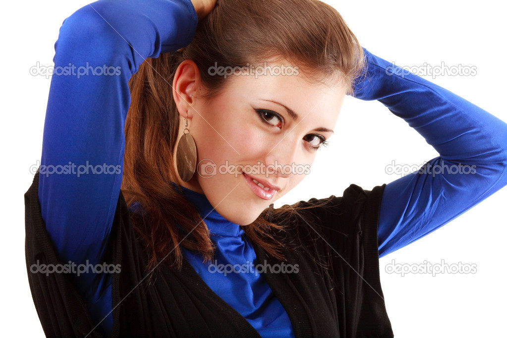 Close-up portrait of a fresh and beautiful young woman — Stock Photo #1672528