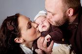 Portrait de famille heureux — Photo