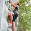 Stock Photo: Mclimbing wall
