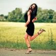 Dancing young woman — Stock Photo #1809623