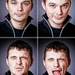 Four characters of man — Foto Stock