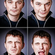 Stockfoto: Four characters of man