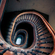 Very old spiral stairway case — Stock Photo