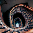 Stock Photo: Very old spiral stairway case
