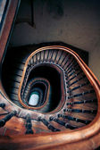 Very old spiral stairway case — Стоковое фото