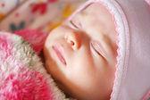 Fridfullt sovande baby和平睡觉的婴孩 — Stockfoto