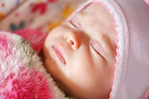 Peaceful sleeping baby — Stock Photo