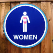 Woman Sign - Lizenzfreies Foto