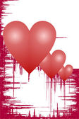 Hearts grunge — Stock Photo
