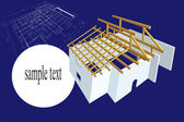 Plan house illustration — Stock Photo