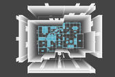 Plán domu ilustrace — Stock fotografie