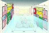 Planen hus — Stockfoto