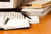 Business desk — Stock Photo