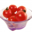 Cherry tomatoes in bowl — Stock Photo