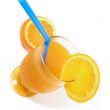 Orange juice (bird's eye) — Stock Photo